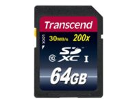 Transcend Premium - Flash-minneskort - 64 GB - Class 10 - SDXC