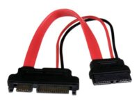StarTech.com 6in Slimline SATA to SATA Adapter with Power - Slim SATA (F) to ...
