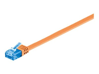 U/UTP CAT6A 0.50M Orange Flat Unshielded Network Cable,