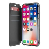 Griffin Reveal Wallet Case for iPhone X Black Clear