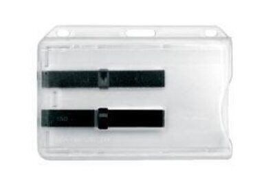 Transparent Horizontal Cardholder with card ejecto