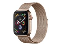 Apple Watch Series 4 (GPS + Cellular) - guld, rostfritt stål - smart klocka m...