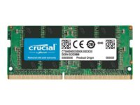 Crucial - DDR4 - 4 GB - SO DIMM 260-pin - 2666 MHz / PC4-21300 - CL19 - 1.2 V...