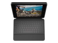 Logitech Rugged Folio - Tangentbord och foliefodral - Apple Smart connector -...