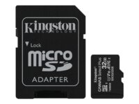 Kingston Canvas Select Plus - Flash-minneskort (adapter, microSDHC till SD in...